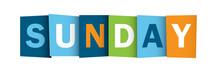 SUNDAY (icon Symbol Agenda Guide Events)