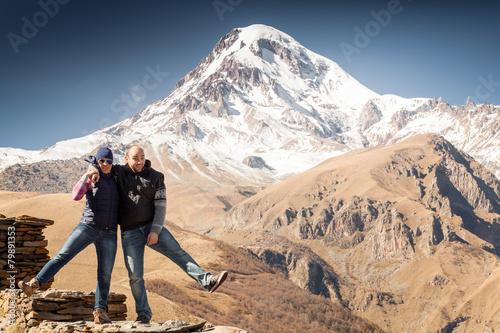 Photo Tourists, mountains, funny
