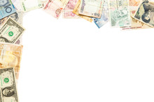 Frame Of Different Banknotes