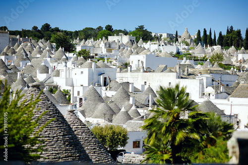 Photo Alberobello's trulli, Apulia, Italy