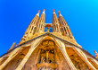 The Sagrada Familia famous church in Barcelona, Spain