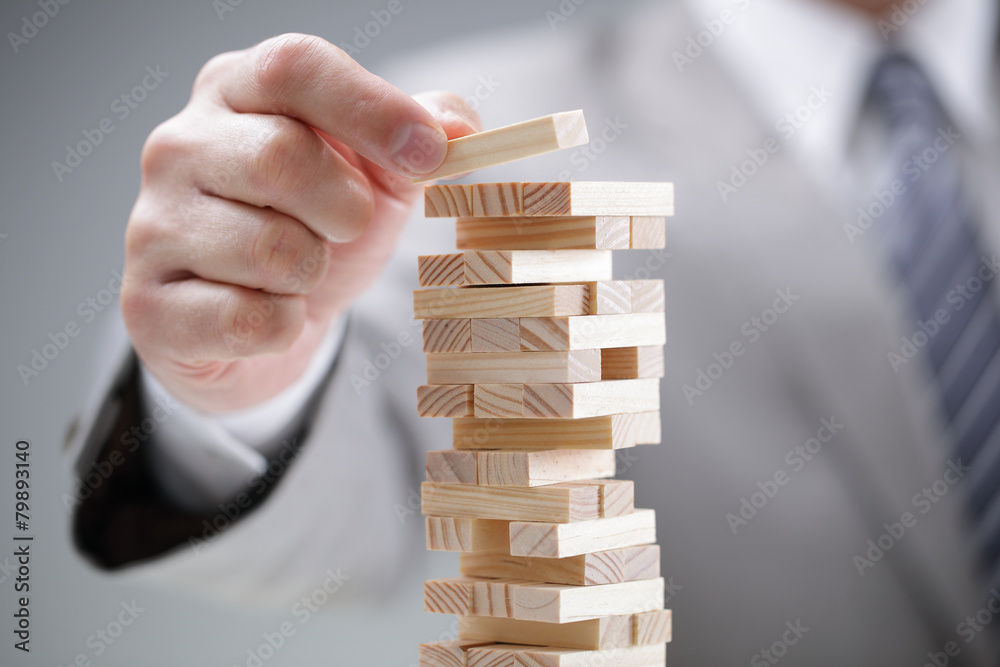 Fototapeta Planning, risk and strategy in business