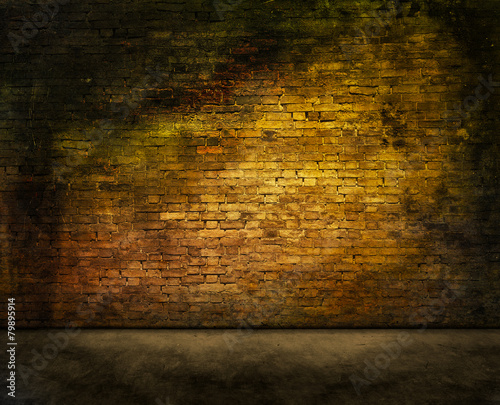 mysterious brick wall Tablou Canvas