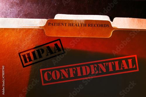 Fotografía  Confidential Health records folders