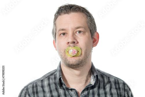 Fototapeta  Man and a pacifier