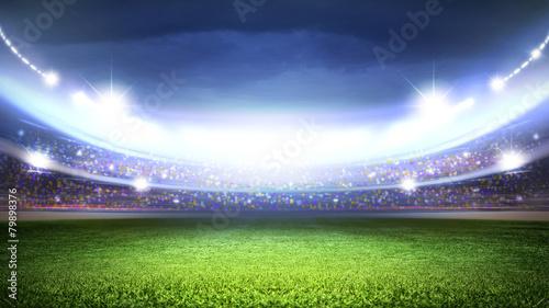 Spoed Foto op Canvas Stadion Soccer stadium