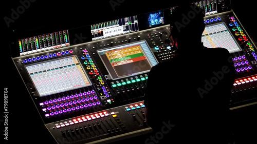 Fotografie, Obraz  Dj at mixing console