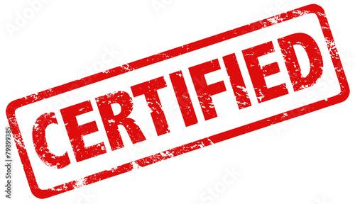 Fotografie, Obraz Grunge stamp certified red