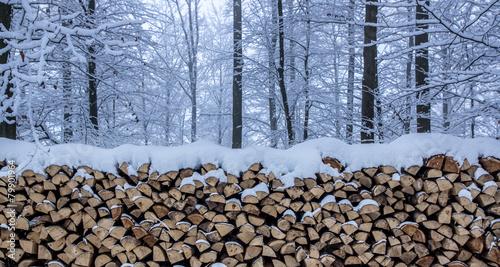 Foto auf Leinwand Brennholz-textur Brennholz