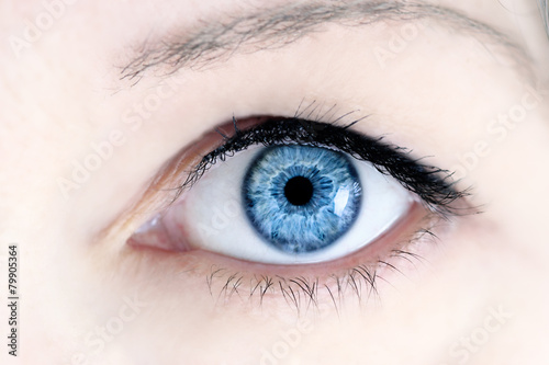 Door stickers Iris Blue Eye