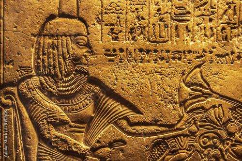 Fotografie, Obraz  Egyptian hieroglyphics