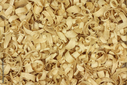 Obraz na plátne  thin wood chips abstract background
