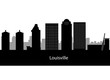 Louisville Kentucky city skyline silhouette. Vector illustration