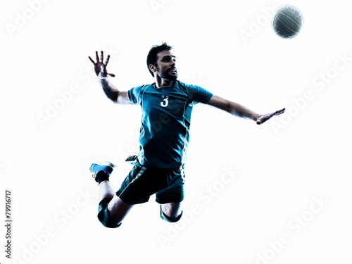 man volleyball  jumping silhouette Tableau sur Toile