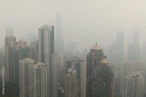 Cuadros en Lienzo Smogalarm in Hong Kong