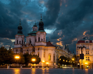 Fototapeta na wymiar St. Nicolas Church in Prague
