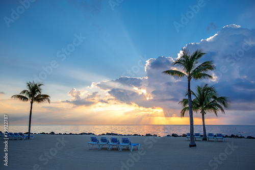 Valokuva  Awesome sunset on Key Largo, Florida, USA