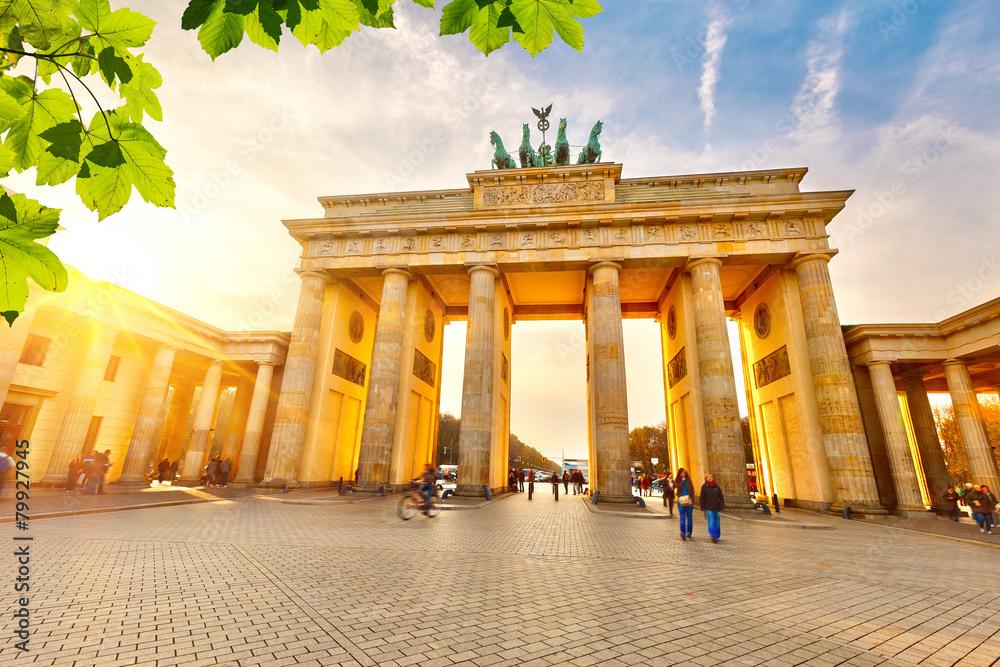 Fototapety, obrazy: Brandenburg gate at sunset