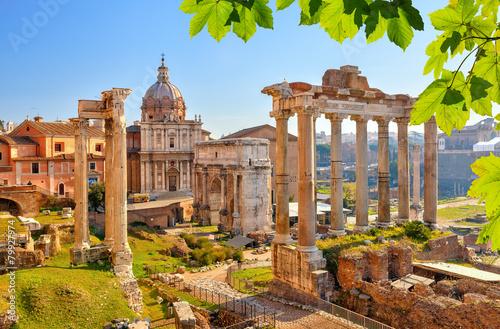 Staande foto Athene Roman ruins in Rome, Forum