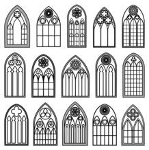 Gothic Window Silhouettes