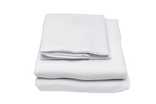 Folded Bed Linen On White Isol...