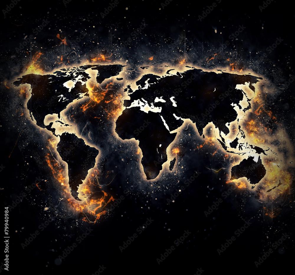 Foto  Burned world
