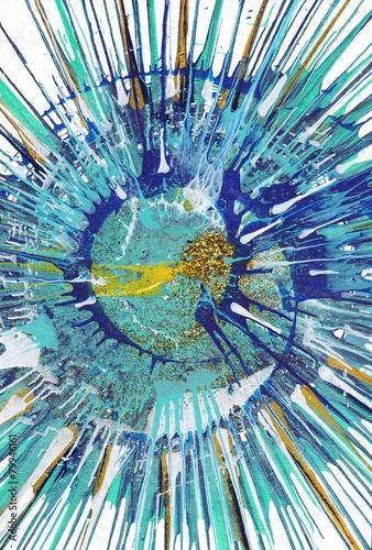 malarstwo-abstrakcyjne-ekspresjonizm-gold-fish