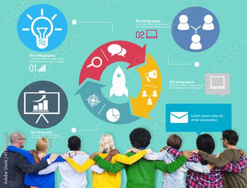 Fototapety, obrazy: Innovation Start Up Success Growth Concept