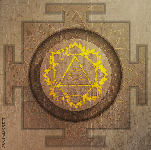 Canvastavla  Yantra Goddess Lakshmi