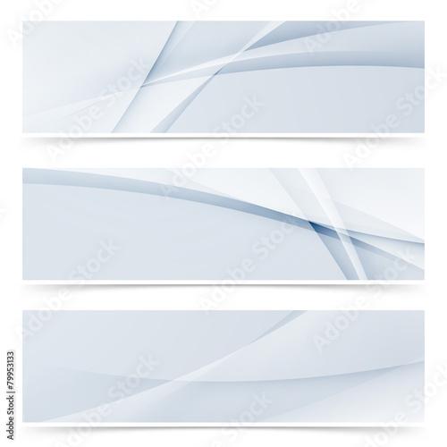 Fototapeta Fashion wave swoosh banner collection design set obraz