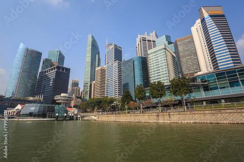Photo  Singapore city skyline at Marina Bay