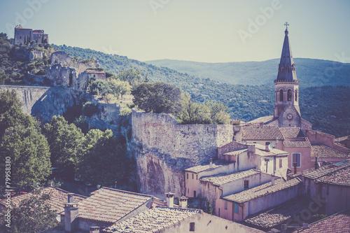 View of Saint Saturnin les Apt, Provence, France Wallpaper Mural