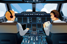 Pilot And Copilot Inside The C...
