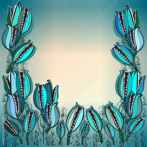 Fotografía  flytrap,abstract background