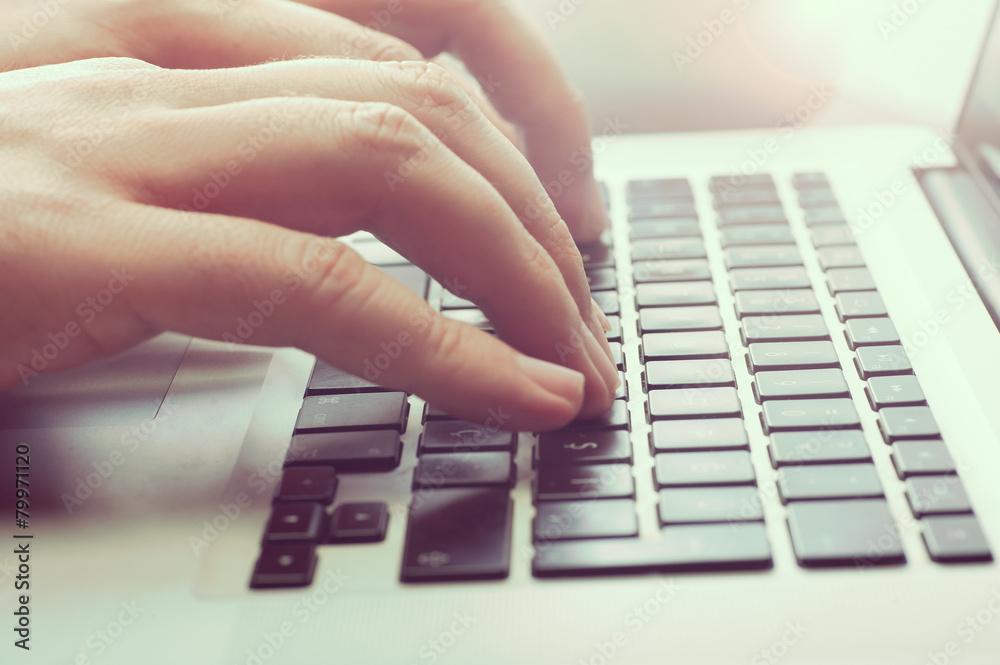 Fototapeta Man Typing