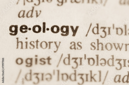Stampa su Tela Dictionary definition of word geology