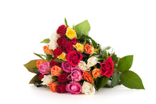 Colorful Bouquet Mixed Roses