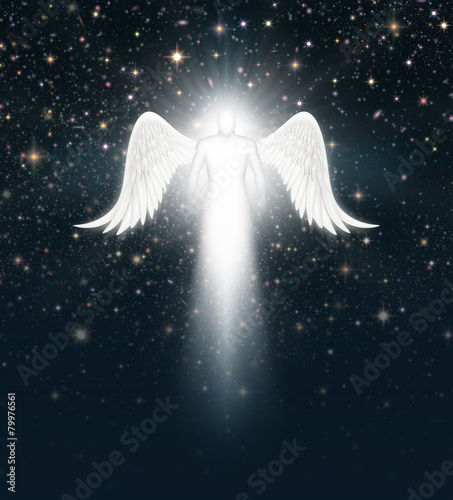 Angel in the Night Sky Canvas Print