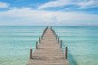 Summer, Travel, Vacation and Holiday concept - Wooden pier in Ph