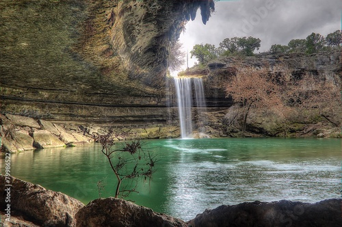 In de dag Texas Hamilton Pool, Texas