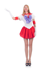 A Girl In Sailor Moon Suit Iso...
