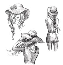 Fashion Illustration. Hand Dra...