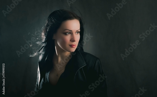 Photo  Portrait of a girl-brunette