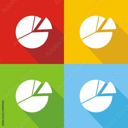 iconos gráfica circular colores sombra buy this stock vector and