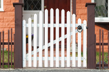 Picket Fence Gate At The Front...