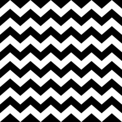 Obraz na Szkle Skandynawski Seamless zig zag pattern in black and white