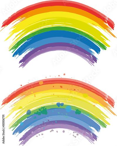 Rainbow lines Canvas Print