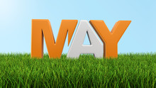 May On Grass  (clipping Path Included)