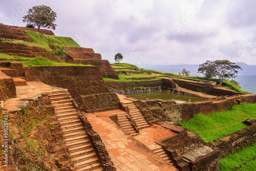 The ancient palace of SIGIRIYA in Sri Lanka Tablou Canvas