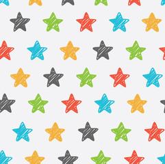 Tapeta Sketchy star seamless background